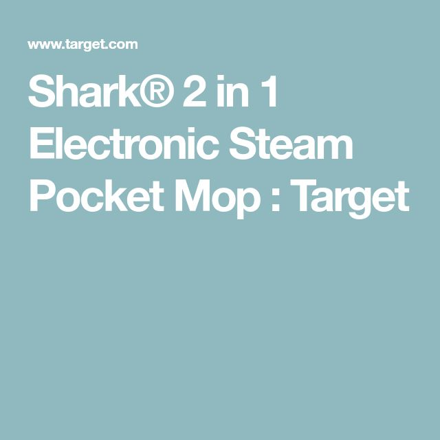 Shark® 2 in 1 Electronic Steam Pocket Mop : Target