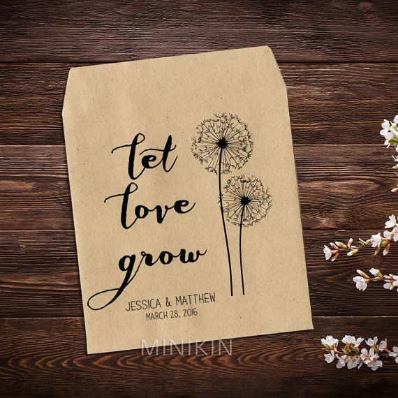 Personalized Seed Packets Bohemian Wedding Favour by MinikinGifts