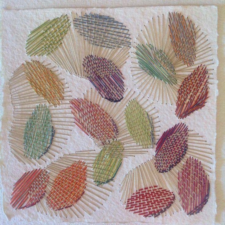 """#stygn #tråd #papper #skiss #textil #stitching #thread #paper #sketch #textileart #textile #färg"" Karin Lundström"