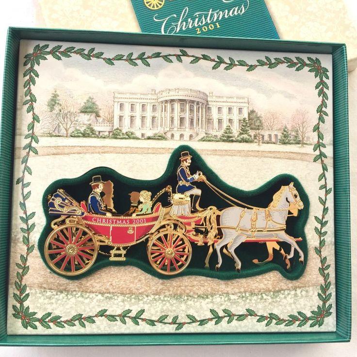 White House Historical Association Christmas Ornament 2001 #WhiteHouseHistoricalAssoc