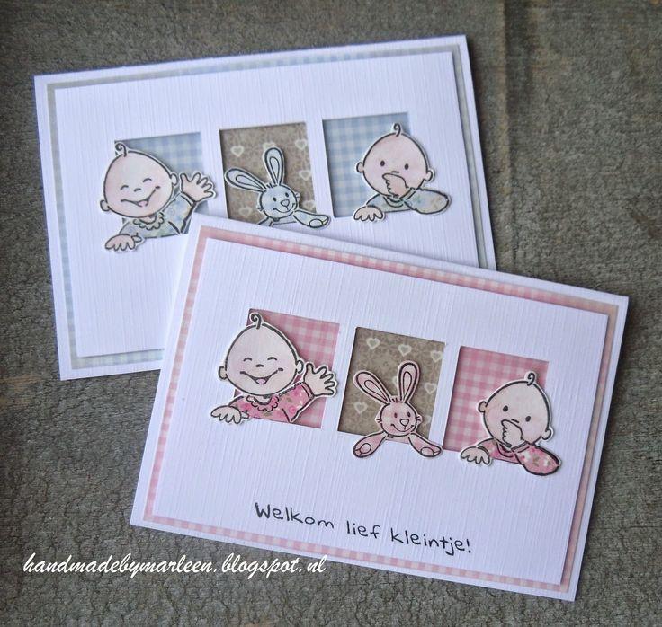 Handmade by Marleen; geboorte kaartjes