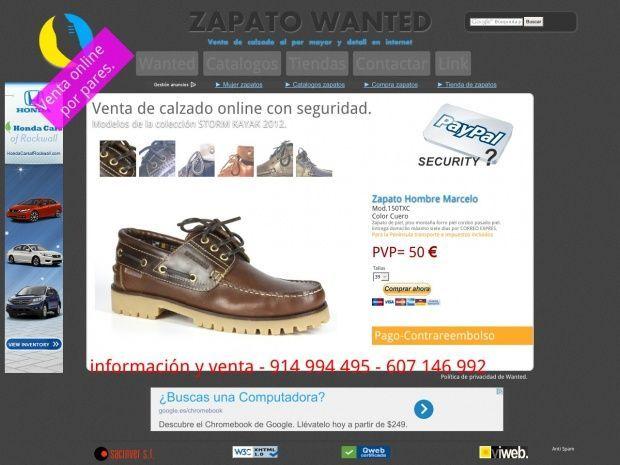 Zapatería al por mayor y detalla. venta de zapatos online, selección de calzado cómodo económico y de calidad para mujeres y hombres. Sitio donde comprar calzado online fabricados en España.