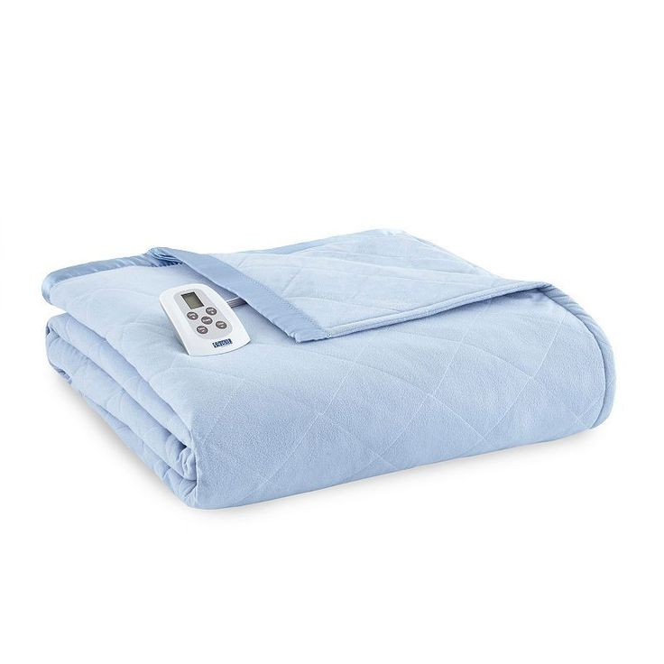 Micro Flannel® Electric Heating Blanket, Blue