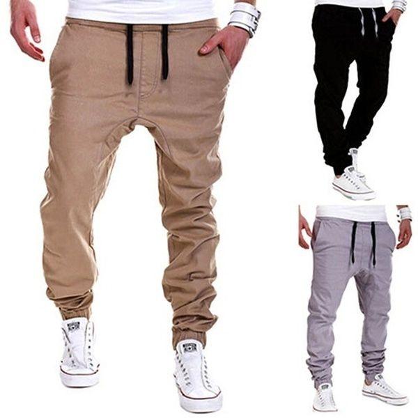 Baggy Jogging Trousers Men Sweatpants Slacks Casual Elastic Sportwear