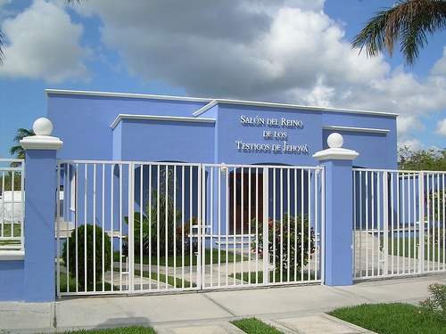 I saw this!! Kingdom Hall on the Transversal Highway in Cozumel