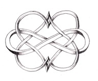 I love this Double Heart Infinity tattoo! Have the boys names make