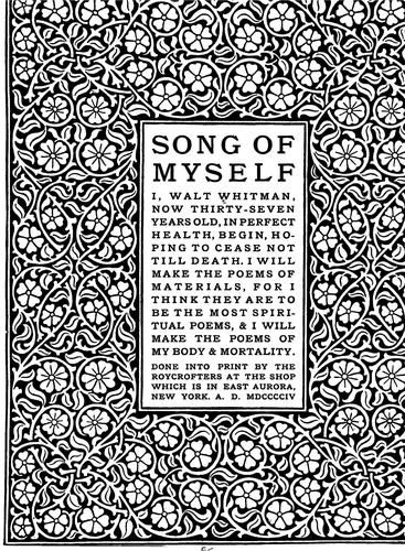 walt whitman s song of myself an analysis By walt whitman 1  the atmosphere is not a perfume, it has no taste of the  distillation, it is odorless,  have you felt so proud to get at the meaning of poems.