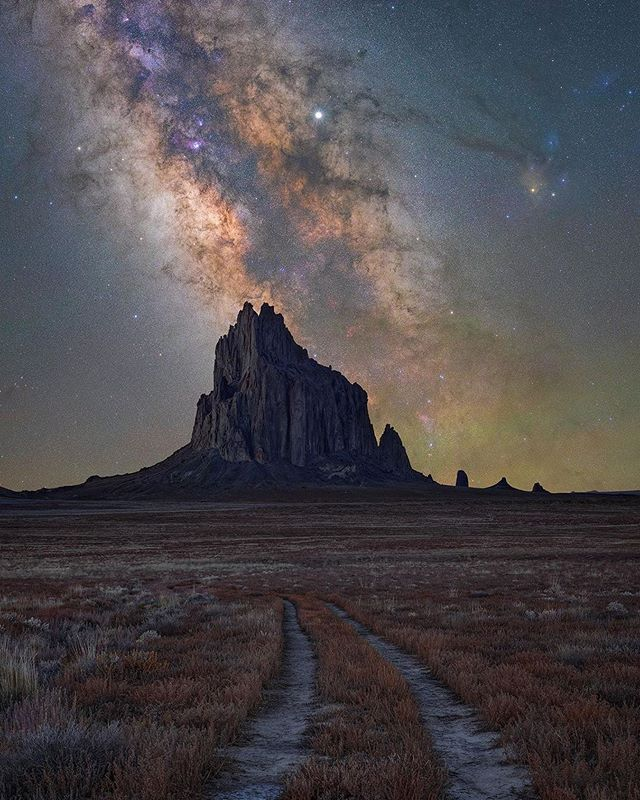 Congratulations To Npmcontest Week 2 Winner Wallahaus We Loved Your Amazing Nighttime Shot Of Shiprock Us Shiprock New Mexico Farmington New Mexico Shiprock
