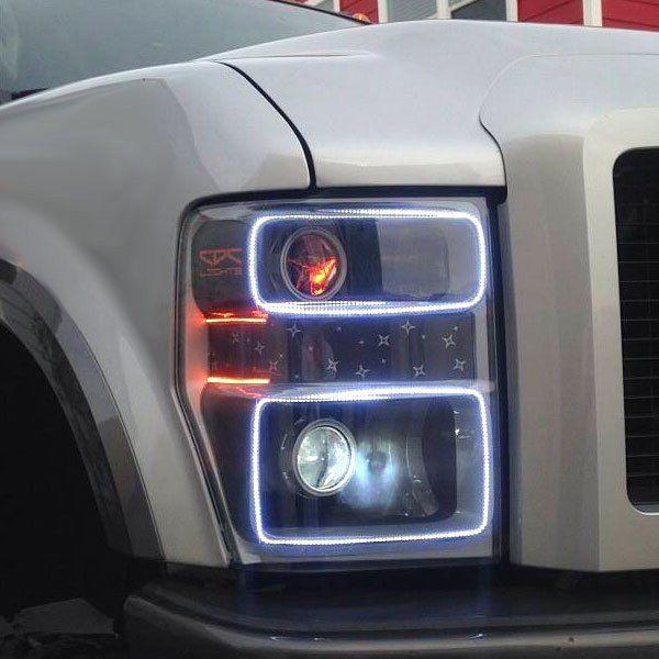 Oracle Lighting® - Black Headlights with Halos Preinstalled