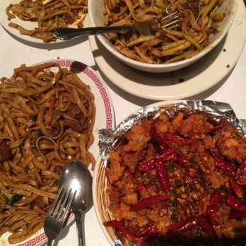 Chiangs – Chinese – shanghai noodles is a favorite. They have two menus though, if you're brave