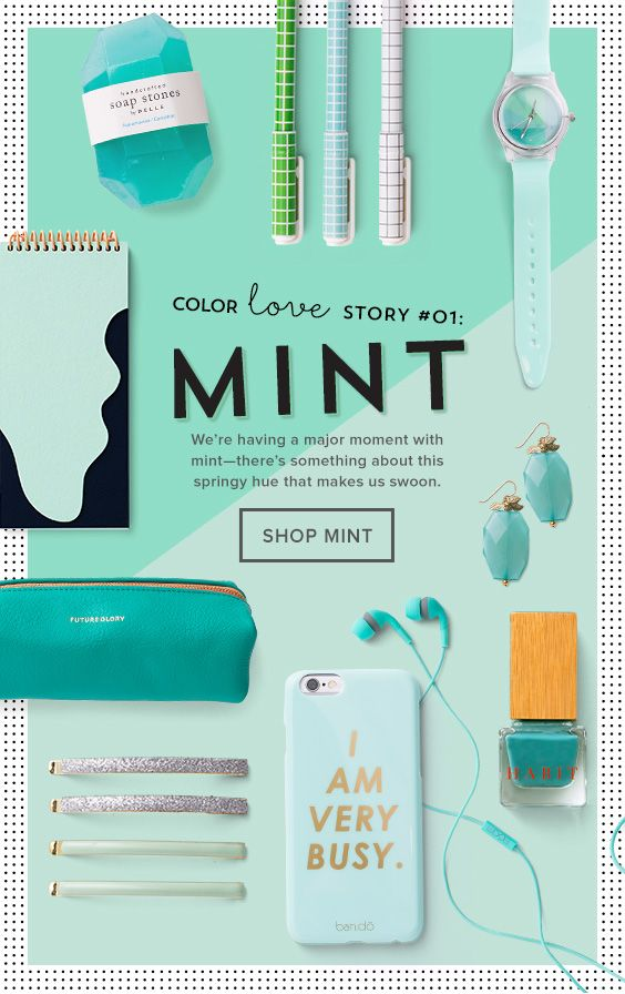 Brit+Co email design #mint