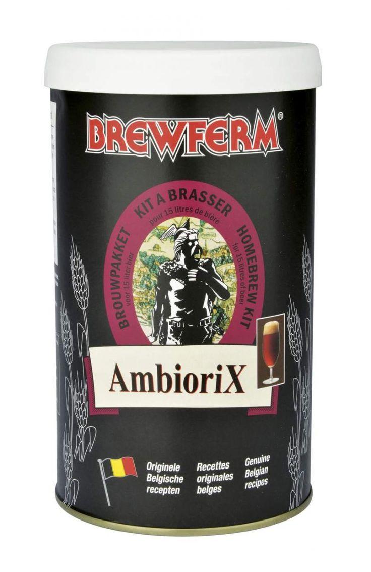 Brewferm – Ambiorix Bira Kiti   Brewferm bira kitleri arasındaki Ambiorix Belçika ale tipi biraların en lezzetli örneklerinden birisidir. İlk tadıştaki burukluğu sonrasında ağızda tatlı bir lezzet bırakan bakır renginde bir yaz birasıdır.   Ambiorix bira kirinin başlangıç yoğunluğu (OG) 1060'tır ve bu yoğunlukla 15 litre % 6,5 alkol oranlı bira elde edilir. #beer #brewferm #bira #ambiorix