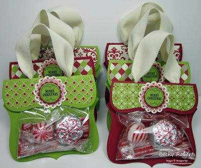adapt for any holiday or as small token gifts ~ Inking Idaho: Top Note Candy Purses - Christmas