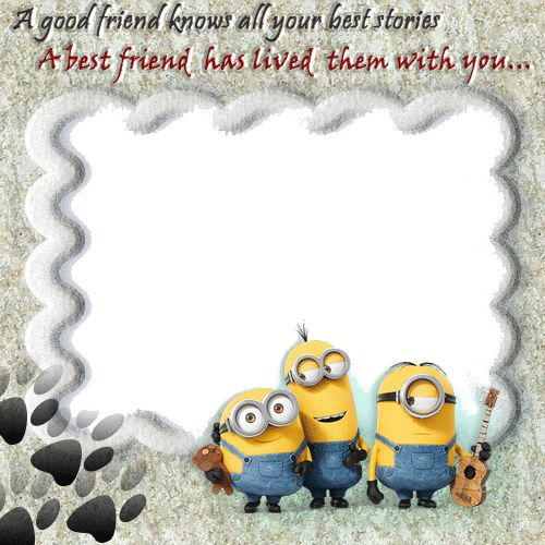 Friendship Picture Frames With Quotes: Create Cute Friendship Photo Frame With Your Photo And