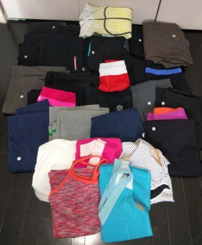 26 Piece Lululemon Lot Size 2 4 6 8 Pants Crops Tanks Sweater Shorts Yoga