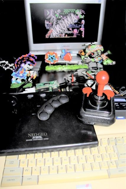 Chibi Akumas Testing With the X-Mem 512k upgrade and MultiPlay Joystick Controller with my converted NeoGeo stick #chibiakumas #chibi #akuma #retrogames #retrogaming #gothic #amstradcpc #8bit #チビ悪魔 #ちび悪魔