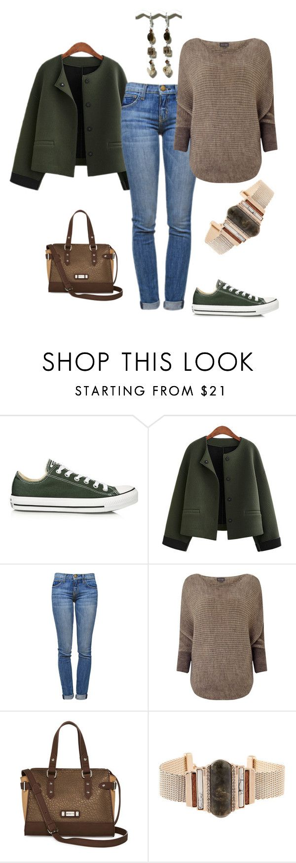 """Weekend Look Feb. 27th & Feb. 28th #1"" by antiadamo on Polyvore featuring Converse, Current/Elliott, Phase Eight and Rosetti"