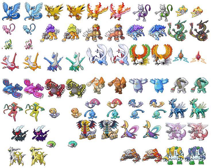 Pokemon Gen 4 Anime Characters : All shiny legendary pokemon google search frick i m