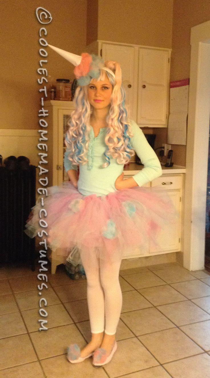 Cute and Sassy Homemade Cotton Candy Costume… Coolest Halloween Costume Contest
