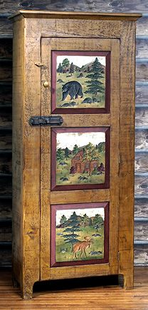 WILDERNESS-STORAGE-CABINET - love the panels, rustic and primitive