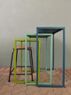 redinfred - maspeth nesting tables and stool