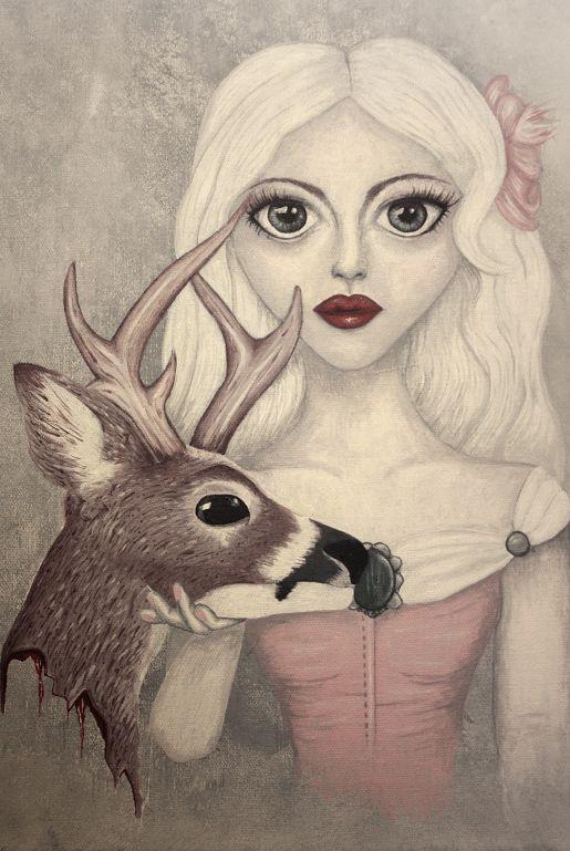 Love never dies – Akrylmålning 46x33cm | Foxboheme - Originalmålning i akrylfärg på canvasduk av linne. Duken är spänd över en kilram som gör att tavlan kan hängas upp på en tavelkrok på väggen direkt som den är.