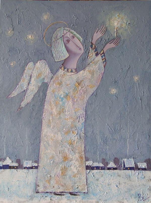 Художниками всех времён и народов, конечно же, написано очень много картин, посвящённых бесплотным невидимым защитникам — ангелам. Их изображают человекоподобными крылатыми созданиями. Посредников между материальным и духовным мирами часто пишут и наши современники, чья живопись и представлена в этой публикации. 'Ангел мой, будь со мной, ты впереди, я за тобой!