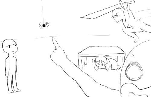 Cuando tus amigos le tienen miedo a las arañas