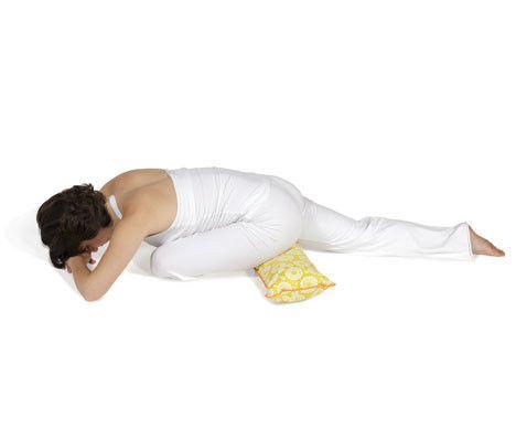 pranayama yoga bolster citron marigold  restorative yoga