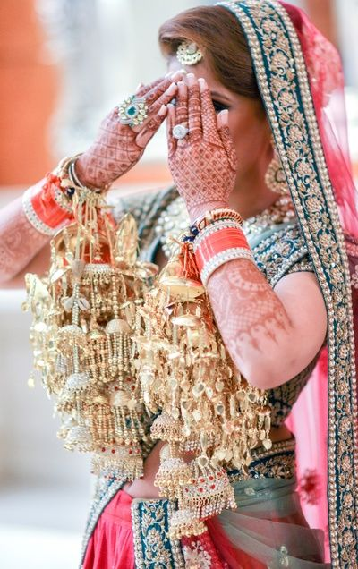 Wedding Kaleere - Traditional Gold Wedding Kaleere | WedMeGood #wedmegood #indianbride #indianwedding #kaleere #gold #traditional