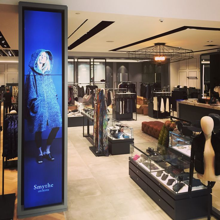 Video wall system for clothing retailer. Fashion and runway.