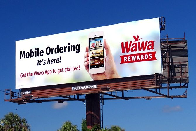 Wawa Mobile Ordering Billboard | Billboards designs