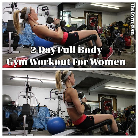 Get stronger and tone up without having to go to the gym more than twice a week with this 2 day full body gym workout for women.