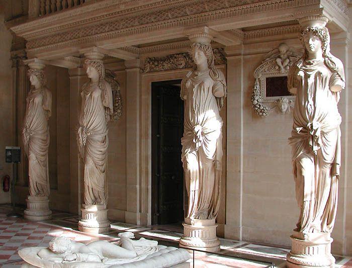 Hall Of Caryatids Louvre Museum Paris France Musée D Orsay Louvre Louvre Museum