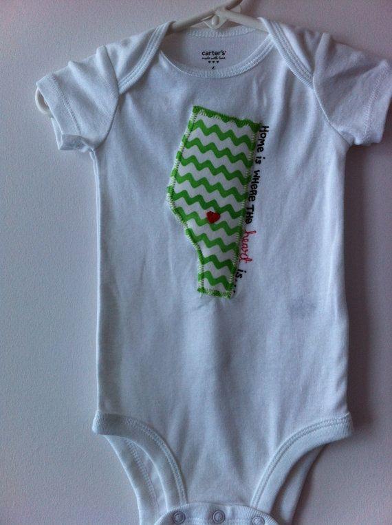 Canadian hometown baby onesie Edmonton by DapperDarlingsCanada, $19.00
