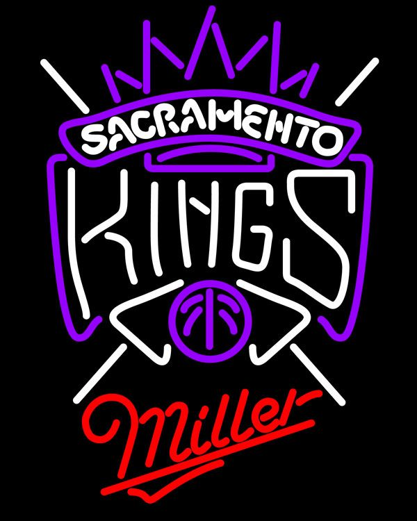 Miller Sacramento Kings NBA Neon Sign, Miller with NBA Neon Signs | Beer with Sports Signs. Makes a great gift. High impact, eye catching, real glass tube neon sign. In stock. Ships in 5 days or less. Brand New Indoor Neon Sign. Neon Tube thickness is 9MM. All Neon Signs have 1 year warranty and 0% breakage guarantee.