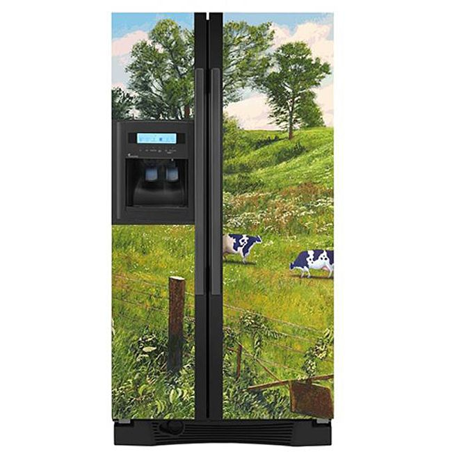 Appliance Artu0027s Country Cow Refrigerator Cover   Overstock™ Shopping   The  Best Prices On Appliance