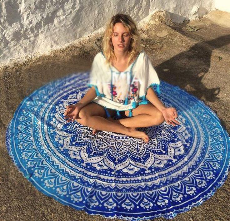 Summer 2017 Beach Wear Wraps Print Round Beach Mat Cover-Ups Holiday Casual Women Clothing A61202