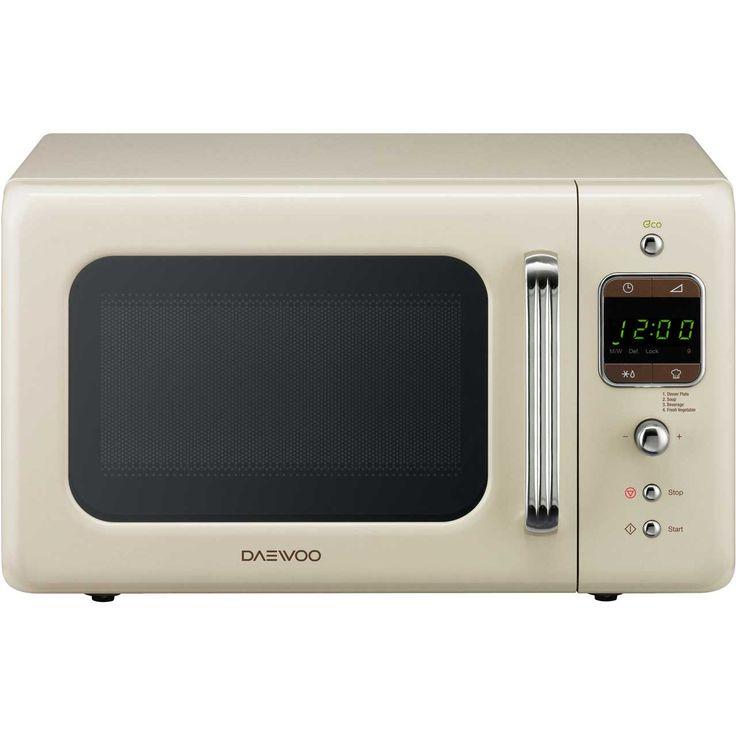 Daewoo Microwave | KOR7LBKC | Retro Style | ao.com