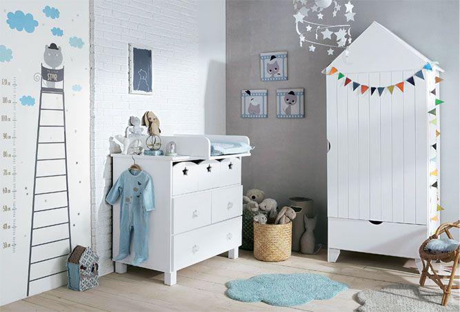 vertbaudet - Moustachat, décoration chambre bébé, linge de lit bébé