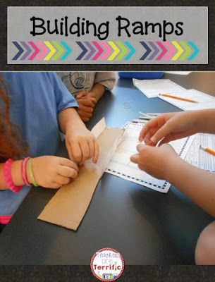 Learn a little about Force and Motion as you build your own ramp in STEM class! Includes detailed teacher directions, photos, and lab sheets!