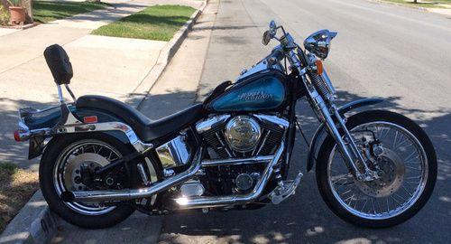 1991 Harley Davidson Springer Softail, Price:$7,200. Huntington Beach, California #hd4sale #harley davidson #softail #springer softail