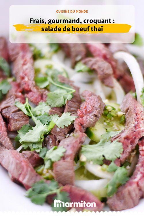 Une Salade De Boeuf Tres Fraiche Et Originale A Decouvrir Salade