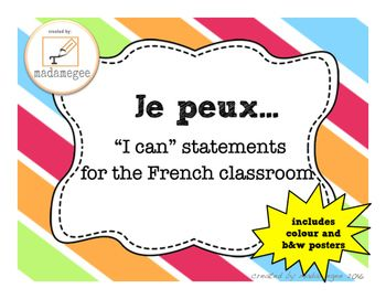 """Je Peux..."" French I CAN Statements"