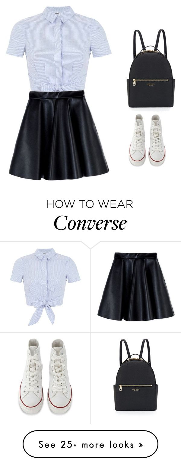 """""""Untitled #20"""" by lizzydesigns on Polyvore featuring Miss Selfridge, MSGM, Converse and Henri Bendel"""