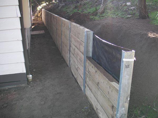 Stützmauern aus Holz | Mauer Kiefernschwellenwan…
