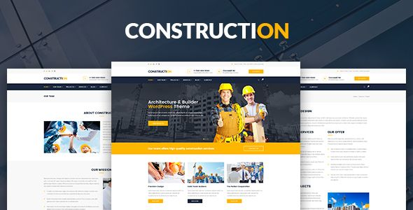 Construction – Architecture, Builder, Construction Company PSD Template