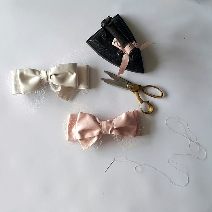 A recent bespoke order for our client who was after our ivory 'Francis Bow' in blush pink and here is the finished bespoke piece! x
