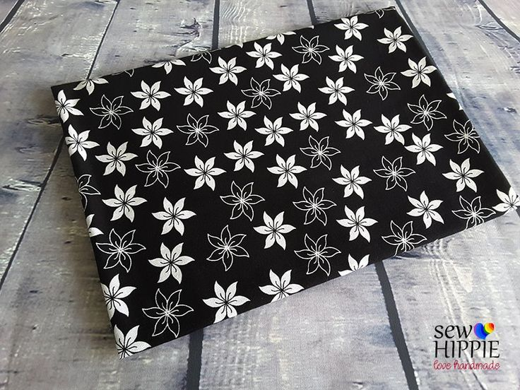 Contrast Flower Available for custom order bags, journal covers and storage baskets. http://www.sewhippiebags.etsy.com