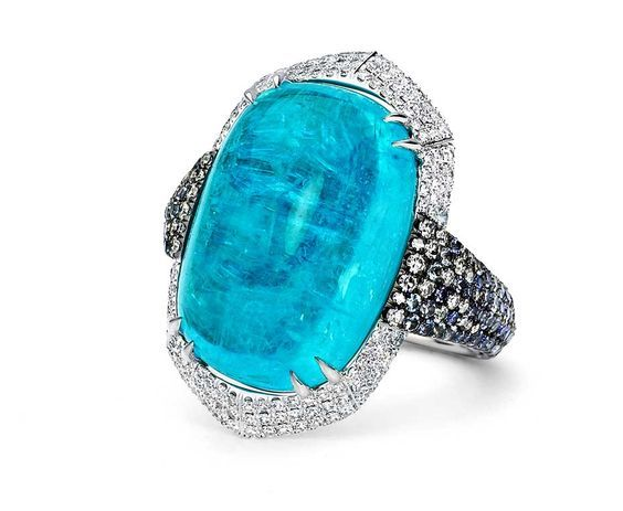 Martin Katz's new Paraiba collection, including this one of a kind Paraiba tourmaline cocktail ring, will be available exclusively at his Beverly Hills salon and at Bergdorf Goodman in New York this spring.